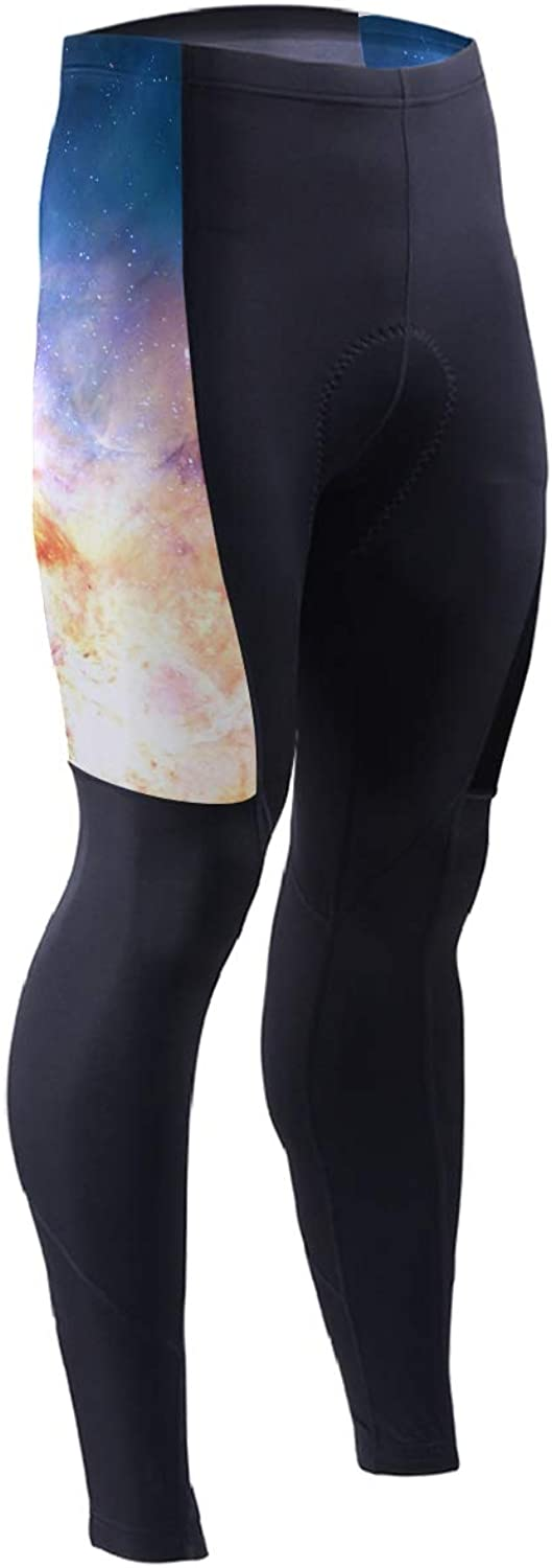 DERLONKAJE Men's Bicycle Pants colord Flame Cycling Tights MTB Leggings