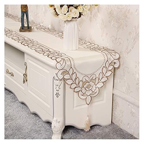 WXIAO tafelloper, modieus, eenvoudig handwerk, geborduurd, motief tafelkleed Thanksgiving vakantie party thema decoratie van stof elegant