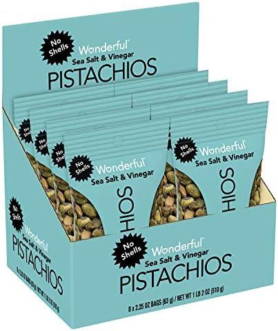 Wonderful Pistachios No Shells Sea Salt Vinegar 2 25 Oz Pack Of 8 product image