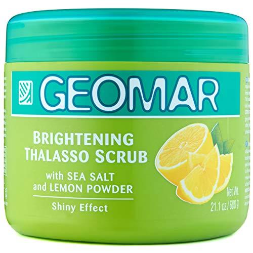 Geomar Lemon Scrub - Large 21 Ounces Natural Lemon Exfoliator - Skin...