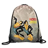 Etryrt Mochilas/Bolsas de Gimnasia,Bolsas de Cuerdas, Drawstring Backpack Bag Cartoon Heckle and Jeckle Poster