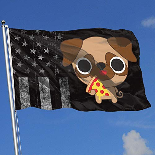 AOTADer Outdoor Flags USA Flagge Pizza Mops Flagge für Sportfan Fußball Basketball Baseball Hockey