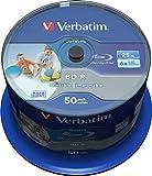 Verbatim BD-R SL Datalife 25 GB - Blu-Ray-Disk - 6-fache Brenngeschwindigkeit - Groß bedruckbar - Hardcoat Scratch Guard - Spindel - 50er Pack
