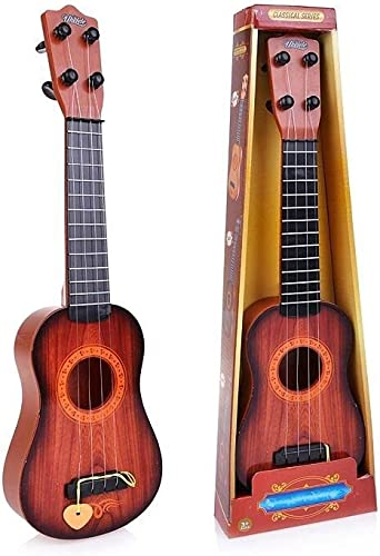 Sajani 4 String Acoustic Guitar Musical Instrument Learning Toy for Kids Mini Guitar Toy 17 Inches
