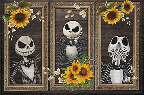 300 Piece Sunflower Jack Skellington Jigsaw Puzzle Back to School Decompression Toy Educational Game Wooden Puzzles Children's Gift Props Adult Animal