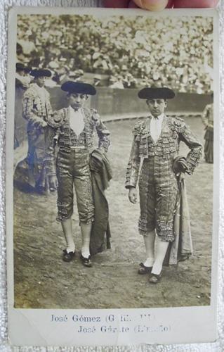 Antigua Postal - Old Postcard : José Gómez (GALLITO III), José Gárate...