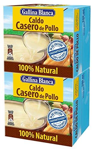 Gallina Blanca - Caldo Casero De Pollo 100% Natural Pack De Dos Unidades De 500 ml