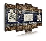 DekoArte 255 - Cuadro moderno en lienzo 5 piezas diseño abstracto con diferentes...