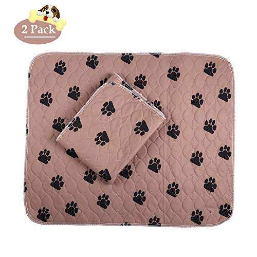 PREMIUM CARE 2 Pack Washable and Reusable Pet Training Pad Waterproof Dog and Puppy Pads for Housebreaking, Travel, Incontinence Underpads (36