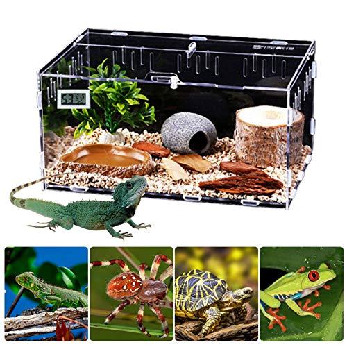 Reptile Breeding Box Acrilico Trasparente, Scatola Per Rettili In Acrilico Trasparente, Utilizzabile Come Vasca Da Riproduzione E Terrario - Per Lucertole, Ragni, Serpenti E Rane