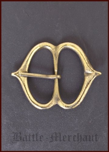Late middle age brass buckle, not 23 - Strap width: Up to 51 mm