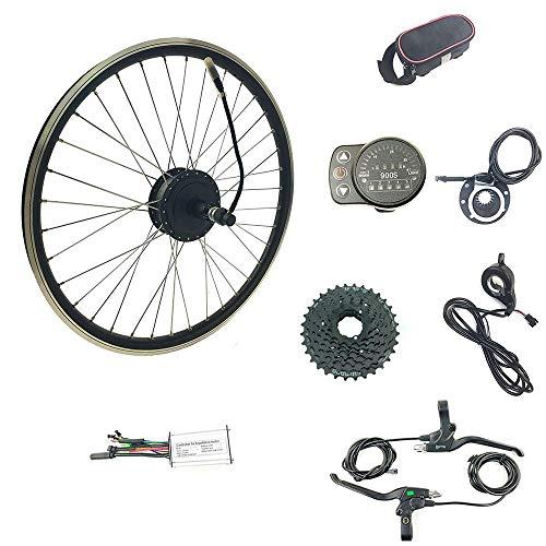 Schuck Kit de conversión de Bicicleta eléctrica de 20 Pulgadas con indicador...