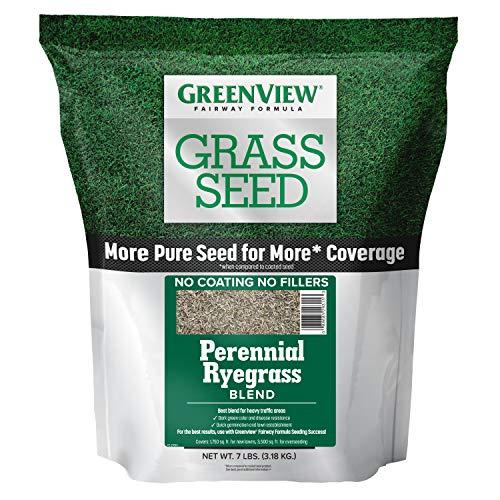 GreenView 2829354 Fairway Formula Grass Seed Perennial Ryegrass Blend, 7 lb