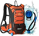 REINOS Hydration Backpack with 2L Bladder for Men & Women, Daypack with Thermal Insulation | Great for Hiking, Running, Cycling, Camping, Skiing, Outdoor Activities (Orange)