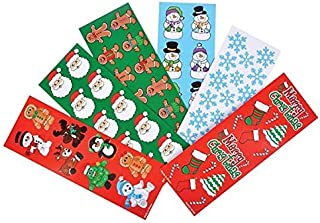 Chstmas Holiday Sticker Assortment~Almost 1000 Stickers~Gingerbread Man, Santa, Snowflake, Penguin, Chstmas Tree, Candy Cane, Snowman, Chstmas Stocking and More….