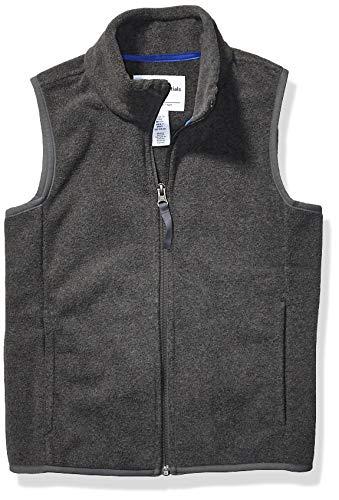 Amazon Essentials Polar fleece-outerwear-vests, Grey Charcoal Heather, X-Small
