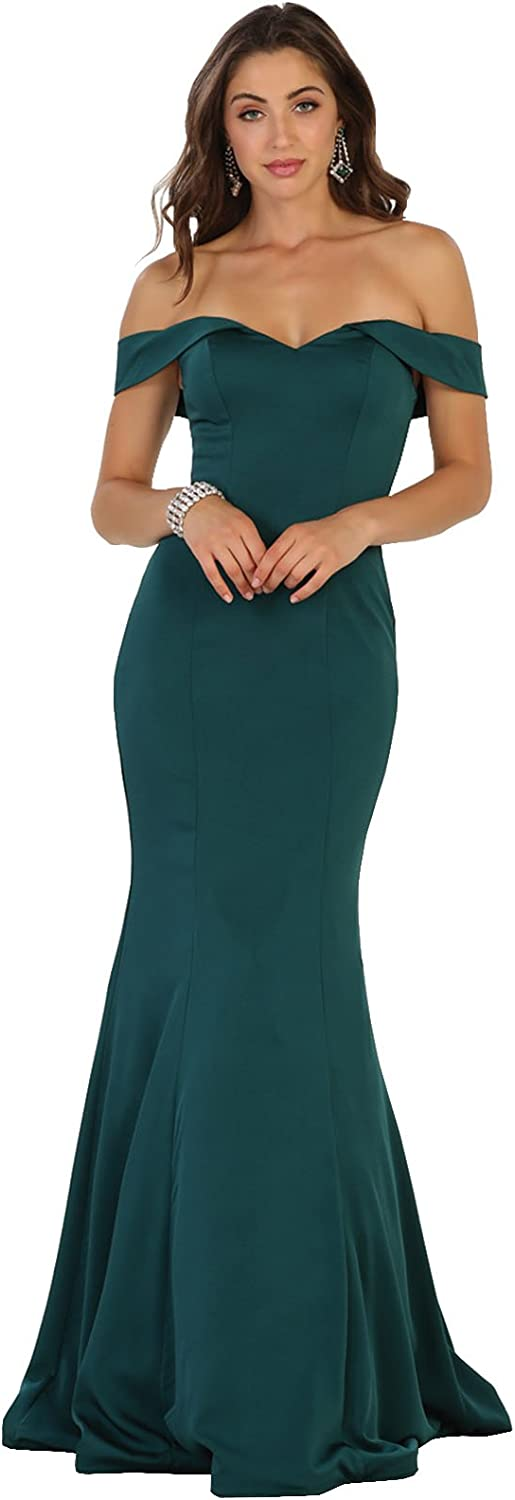 Formal Dress Shops Inc. FDS1547 Mermaid Prom Evening Simple Gown