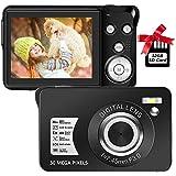 デジカメ デジタルカメラ コンパクトカメラ 1080P 3000万画素数 YouTubeカメラ 充電式 2.7インチ 8倍デジタルズーム 初心者向け ポケットカメラ 最大128GBSDカード対応 日本語説明書
