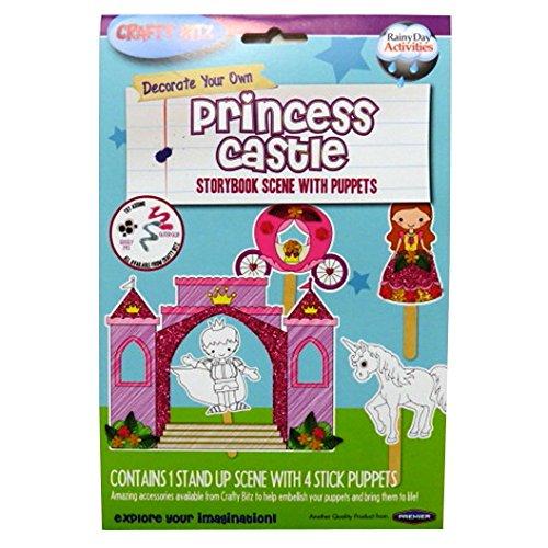 Schmücken Sie Ihre eigene Marionettengeschichte Buchbühne mit Puppen - Prinzessin Schloss