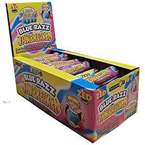 blue razz raspberry jawbreaker balls 4 packs zed candy novelty bubblegum sweets (pack of 30) Blue Razz Raspberry Jawbreaker Balls 4 Packs Zed Candy Novelty Bubblegum Sweets (Pack of 30) 51HsPu4V6eL