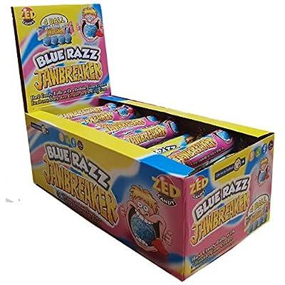 blue razz raspberry jawbreaker balls 4 packs zed candy novelty bubblegum sweets (pack of 30) Blue Razz Raspberry Jawbreaker Balls 4 Packs Zed Candy Novelty Bubblegum Sweets (Pack of 30) 51HsPu4V6eL