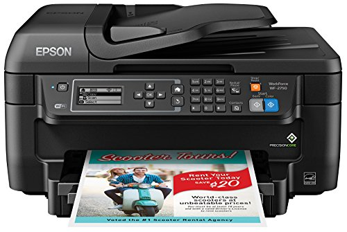 Epson WF-2750 All-in-One Wireless Color Printer with Scanner, Copier & Fax