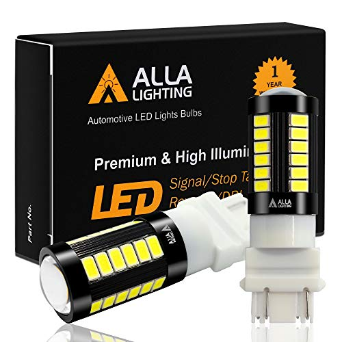 Alla Lighting 2800lm 3156 3157 LED Lights Bulbs Xtreme Super Bright T25 3056 4057 4157 3457K 3057 5730 33-SMD Reverse, Signal, Brake Stop Tail Light, 6000K Xenon White