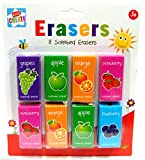 Pack of 8 Scented Erasers