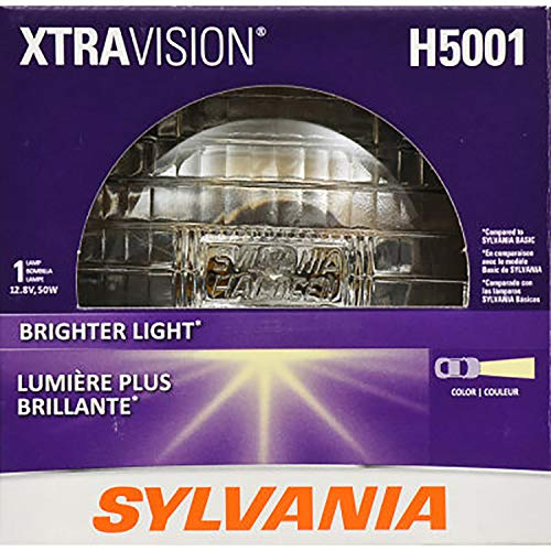 SYLVANIA - H5001 XtraVision Sealed Beam Headlight - Halogen Headlight Replacement Delivers More Downroad Visibility (Contains 1 Bulb)