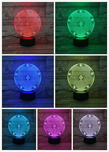 3D Optische Täuschung Nachtlicht VfL Borussia Mönchengladbach Smart 7 Farben LED Touch Tischleuchte für Kindergeburtstag Weihnachten Valentinstag Geschenk