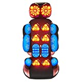 VONOYA 60W Massage Mat with Heating Pads, Full Body Massage Chair Cushion, Shiatsu Kneading Vibrating Neck, Back & Leg Massager for Pain Relief for Home Office More (20 Node)