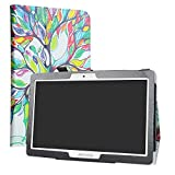 LiuShan Compatible with Digiland DL1036 Case,PU Leather Slim Folding Stand Cover for 10.0' Digiland DL1036 Android Tablet PC(Not Fit Digiland DL1016),Love Tree