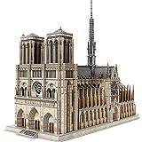 PHLPS 3D for adultos rompecabezas súper grande tridimensional plug-in de regalo Plug-and-play Juego de Puzzle Challenge francés catedral Edificio Modelo Craft Kit masculino, Notre Dame de París 293 Pi