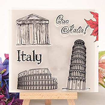 Salemi Craft Italy Italian Words Rome Transparent Clear Silicone Stamp for Seal DIY Scrapbooking Photo Album Decorative Clear Stamp
