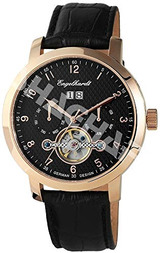Engelhardt Herren Analog Mechanik Uhr mit Leder Armband 388931029008