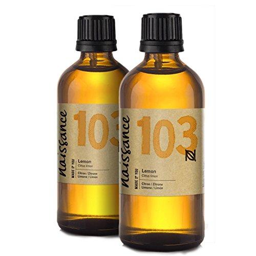 Naissance Olio di Limone - Olio Essenziale Puro al 100% - Vegano, Senza OGM - 200ml (2x100ml)
