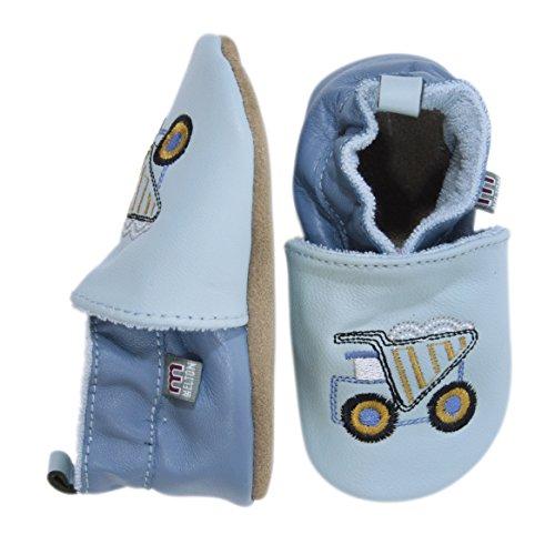 Melton Krabbelschuh - Kipper, Baby Jungen Krabbelschuhe, Mehrfarbig (Pastel Blue 223), Gr. 0-6 months
