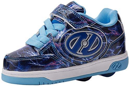 Heelys Mädchen Plus X2 Lighted (he100618) Sneaker, Blau Purple/Blue/Lightning, 32 EU