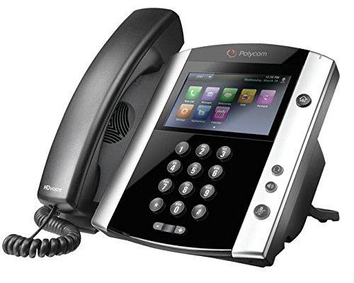 Polycom VVX 600 2200-44600-025 16-Line Business Media Phone PoE (Renewed)