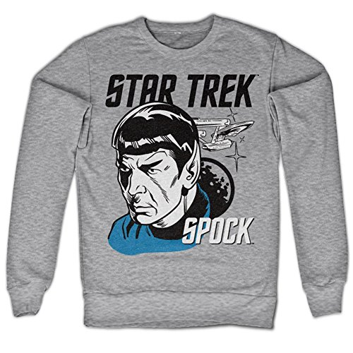 Star Trek & Spock Sweatshirt (H.Gris), Large