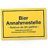 DankeDir! Bier Annahmestelle, Kunststoff Schild mit Spruch(30 x 20 cm), Lustige Geschenkidee...