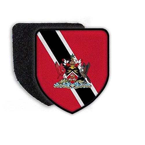 Copytec Patch Flagge von Trinidad und Tobago Wappen Aufnäher Flagge Fahne Land Landesflagge Landesfahne#21451