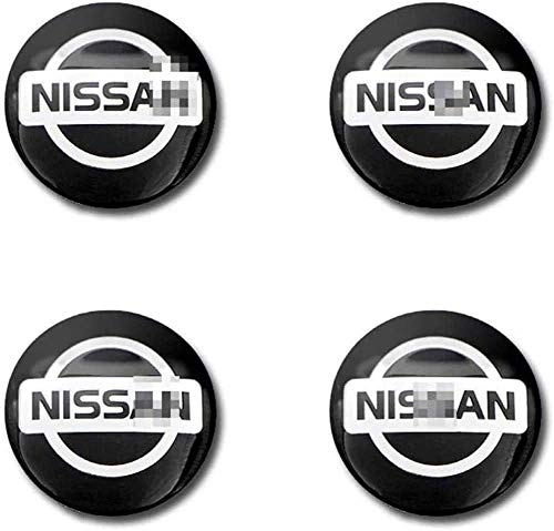 4 Stück Radnabenabdeckung für Nissan X-Trail Almera Qashqai Tiida Teana,Radkappe Stickers in der Mitte Radnabenkappe,Auto Raddekoration Rostschutzzubehör