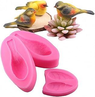 NTBAY La Textura Tridimensional de la Pluma de pájaro Tridimensional es Clara, el Molde de Silicona Fondant de Las alas de pájaro del Bosque, el Molde para Hornear Pasteles