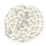 Rosario de perlas blancas bisuteria 56 cm