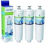 3x AquaHouse AH-352 filtro de agua compatibles para Bosch/Neff/Siemens nevera 3M CS-52, CS-452, CS-51, 640565, 5586605
