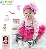 """ZIYIUI 22"""" /55 cm Muñeca Reborn Bebe Reborn Niña Muñeco Simulación de Bebes Reborn Baby Silicona de ..."""