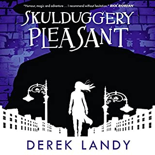 Skulduggery Pleasant audiobook cover art