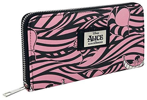 Alice im Wunderland Grinsekatze Geldbörse rosa/schwarz
