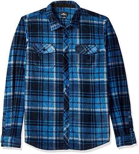 O'Neill Herren Glacier Plaid Long Sleeve Woven Hemd, dunkelblau, XX-Large
